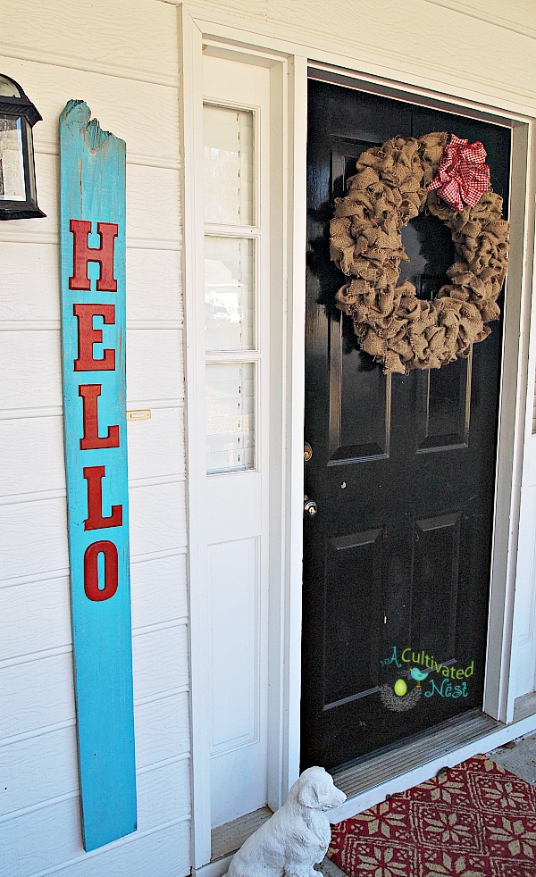 "DIY Reclaimed Wood ""Hello"" Sign"