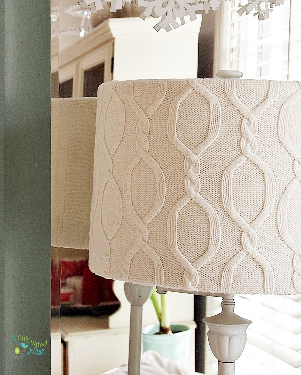 Recycled Sweater Lampshade