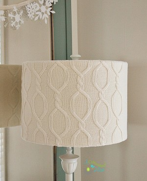 DIY sweater lampshade tutorial