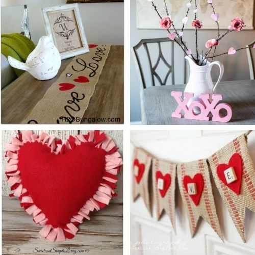 14 Easy DIY Valentine Decoration Ideas- If you want to decorate your home for Valentine's Day on a budget, you'll love these14 easy DIY Valentine's Day decoration ideas! | #ValentinesDay #ValentinesDecor #DIY #ValentinesCrafts #ACultivatedNest