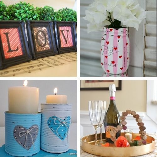 14 Easy Valentine Decor DIY Projects- If you want to decorate your home for Valentine's Day on a budget, you'll love these14 easy DIY Valentine's Day decoration ideas! | #ValentinesDay #ValentinesDecor #DIY #ValentinesCrafts #ACultivatedNest