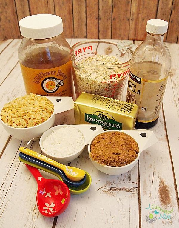 Ingredients needed to make no-bake granola bar can be found in your pantry.