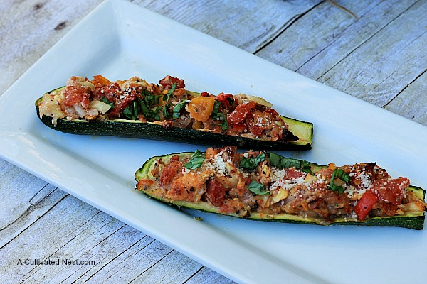 Italian stuffed zucchini boat recipe