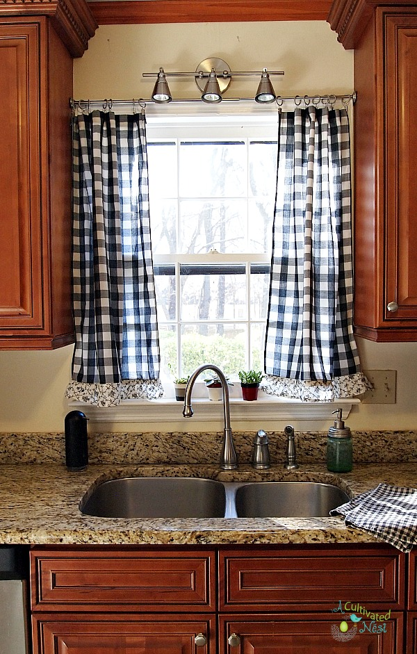 rugal decorating you can find something at a good price and put a little work - Kitchen Curtain