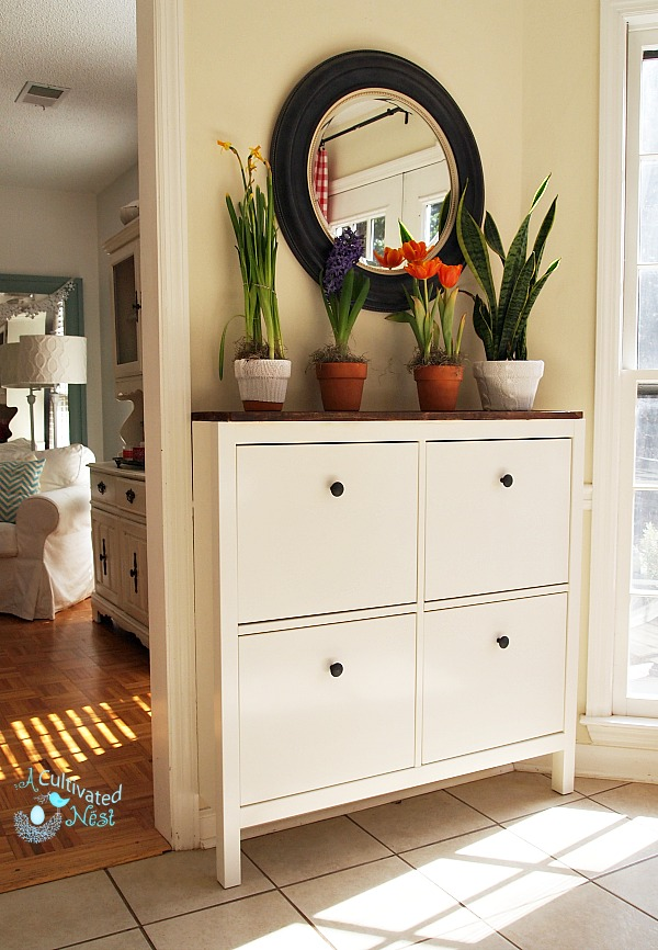 Ikea Hemnes Shoe Cabinet Used As Buffet