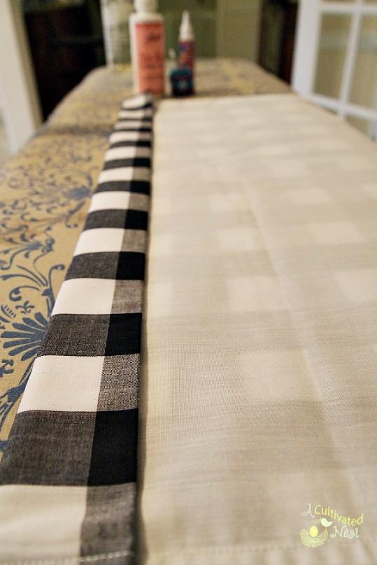 No sew hem for curtains using fabric glue