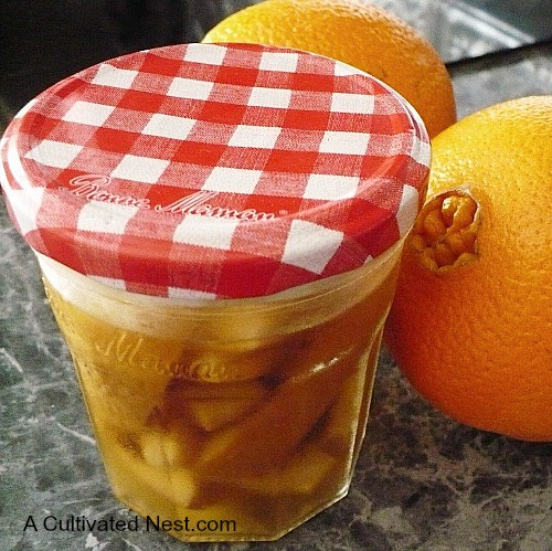 Make a orange scented natural cleaner with orange peels