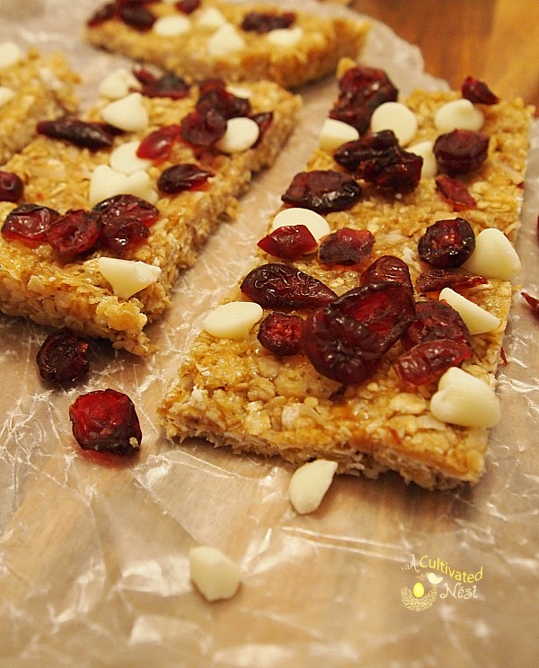 Chewy No-Bake Granola Bar Recipe | So easy to make! No preservatives and you probably have all the ingredients in your pantry already!