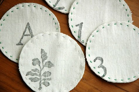 Easy DIY Drop Cloth Projects - Drop Cloth Coasters