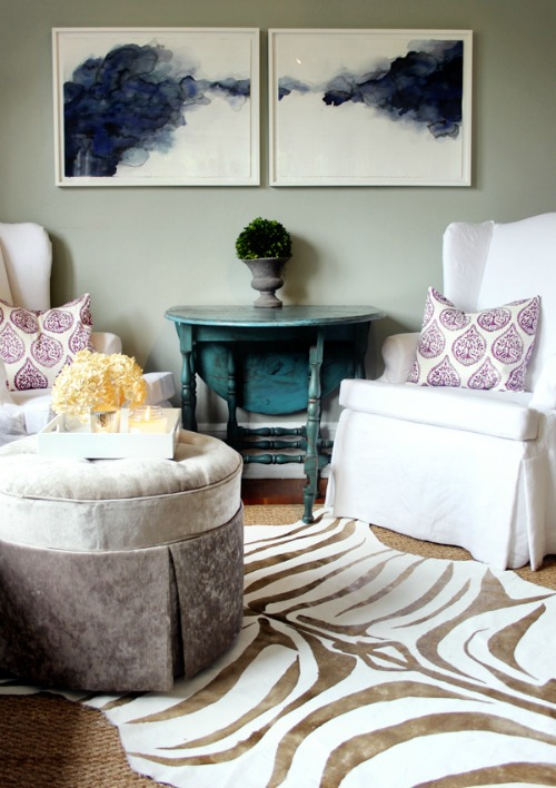 Easy Drop Cloth Projects - DIY Zebra Stripe Rug