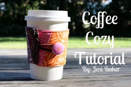 15 Easy Sewing Projects - DIY coffee sleeve