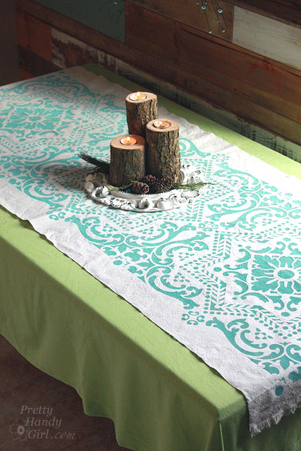 DIY Drop Cloth Projects -drop cloth tablerunner