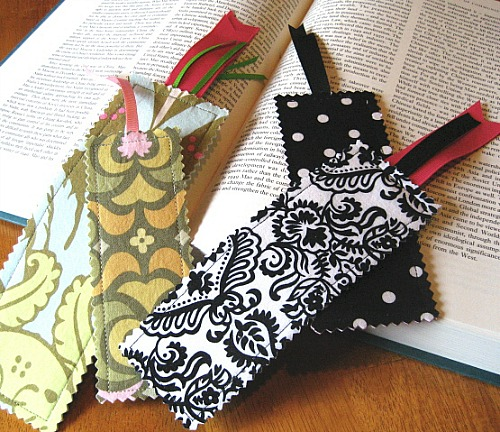 Easy Sewing Projects - DIY Fabric Bookmarks