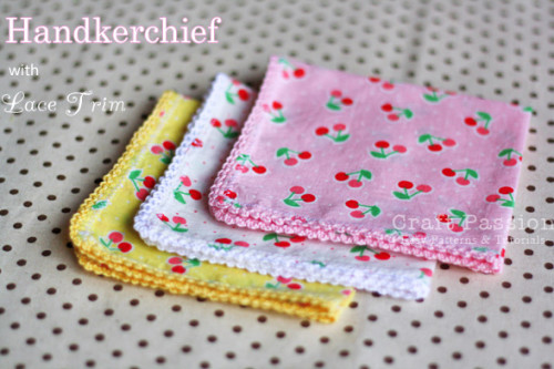 Replace Disposable Products With Reusable Ones-  DIY handkerchiefs