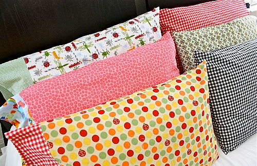 15 Easy Sewing Projects - DIY pillowcases