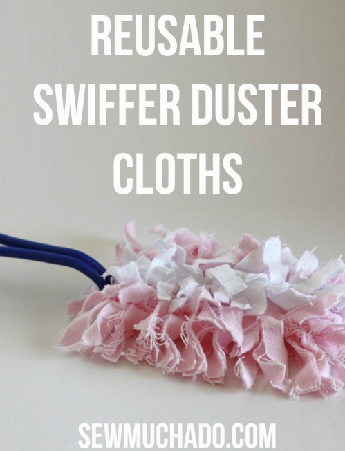 Replace Disposable Products With Reusable Ones - DIY  duster cloths