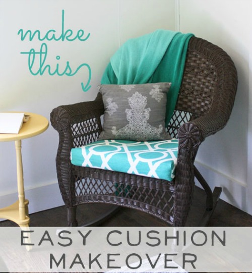 15 Easy Sewing Projects - chair cushion makeover