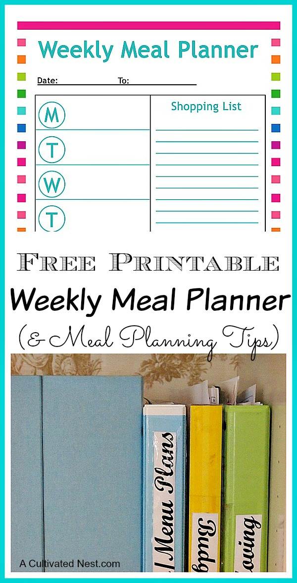 7 Day Meal Planner Template | printable planner template