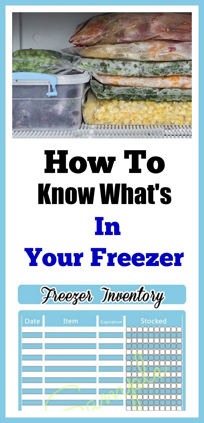 How To Know What's In Your Freezer - The best way to inventory your freezer & printable. Knowing what you have is important in controlling your grocery budget! . FREE printable freezer inventory sheet available.