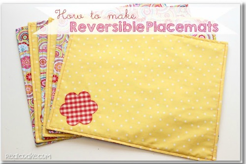 15 Easy Sewing Projects - How to make placemats