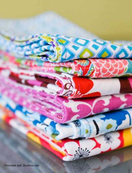Replace Disposable Products With Reusable Ones - diy  cloth napkins