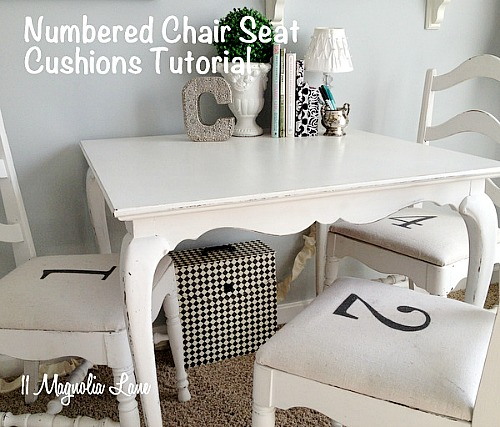 Easy Drop Cloth Projects - DIY Drop cloth seat covers