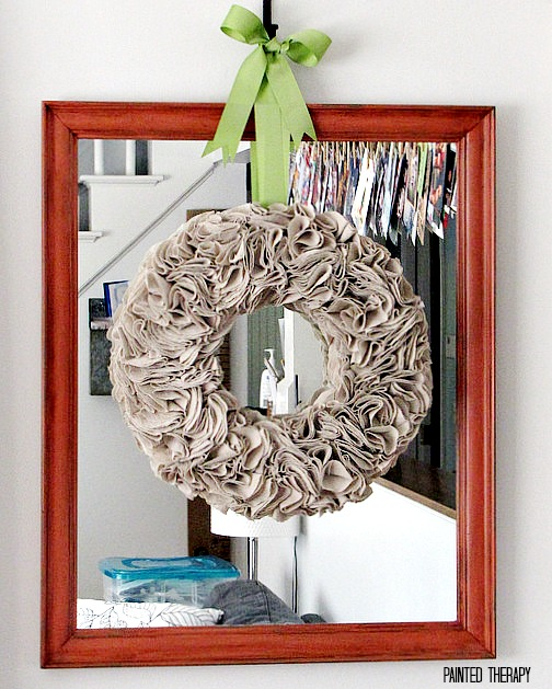 Easy DIY Drop Cloth Projects - drop cloth wreath