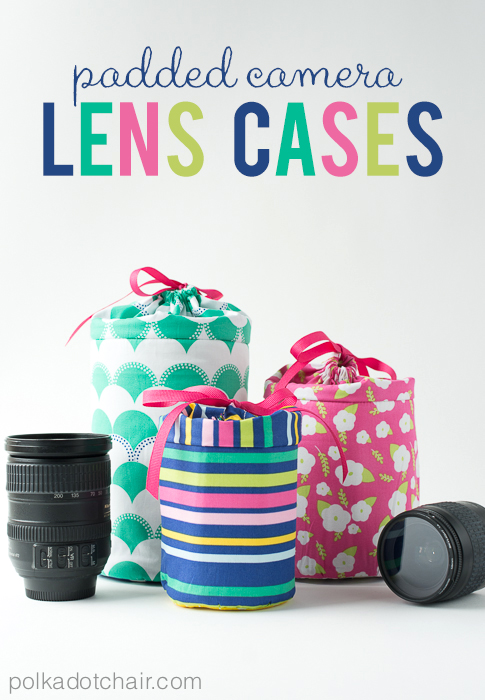 15 Easy Sewing Projects - DIY padded camera lens cases