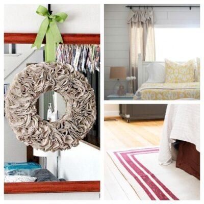 12 Easy DIY Drop Cloth Projects