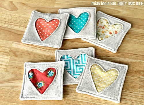 15 Easy Sewing Projects - DIY Fabric Coasters