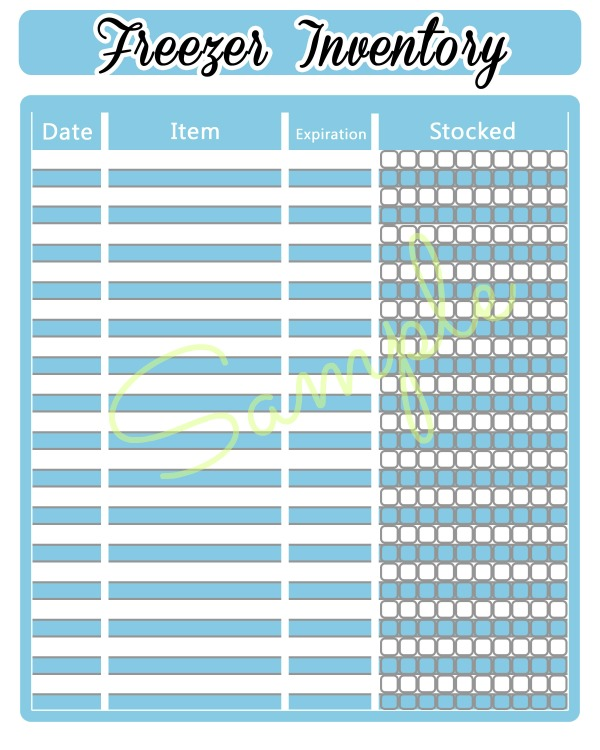 FREE printable freezer inventory sheet. Knowing what you have is important in controlling your grocery budget! The best way to inventory your freezer & printable.