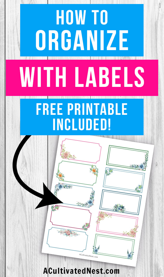 image regarding Free Printable Organizing Labels named 15 Free of charge Printable Labels For Preparing- A Cultivated Nest