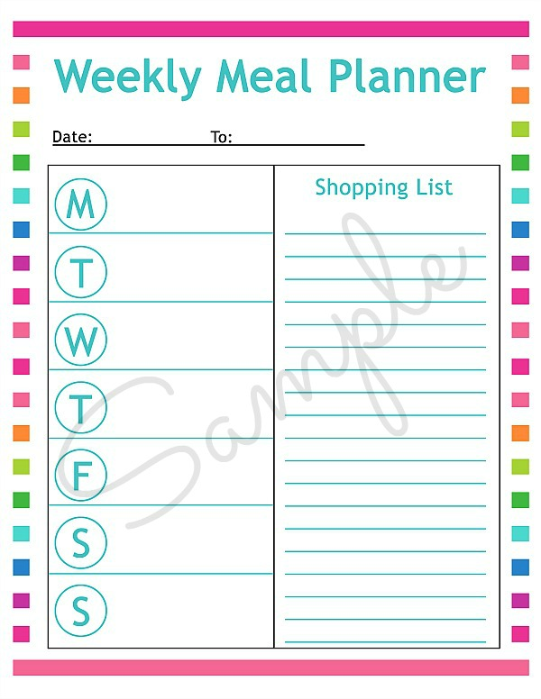 Free printable menu planning sheet & tips for meal planning