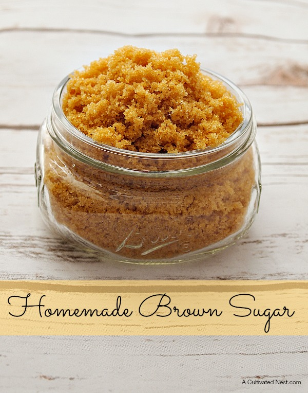 Homemade Brown Sugar-Have you ever wanted to make something that needed brown sugar but then you realize you don't have any or don't have enough? Well,  you will never run out of brown sugar with this recipe.