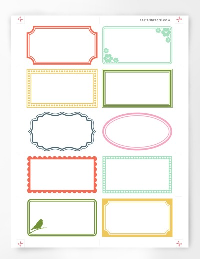 Free Printable Labels - assorted blank labels