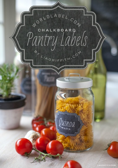 Free Printable Labels - chalkboard labels