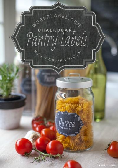 Free Printable Labels - chalkboard labels