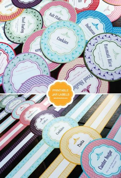 Free Printable Labels - mason jar labels