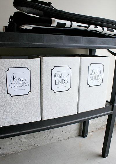 Free Printable Labels - oversized garage labels