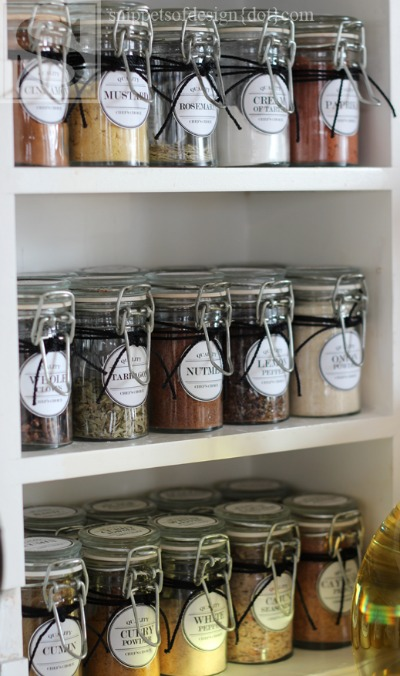 Free Printable Labels - spice cabinet labels