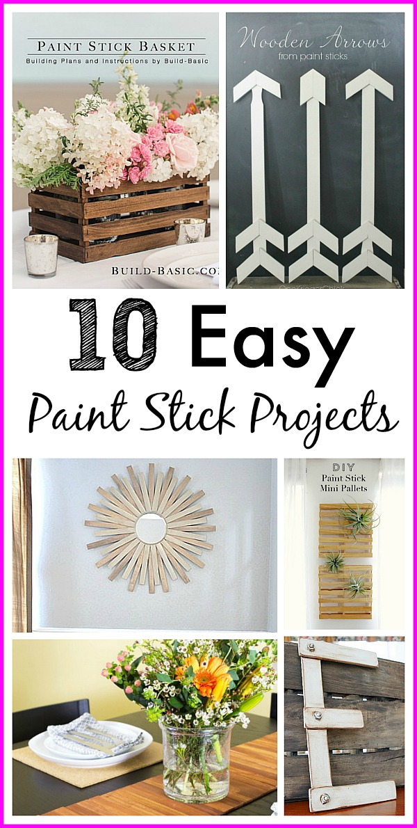 10 Easy Paint Stick Projects- Check out these 10 paint stir stick projects for some cute, easy, and inexpensive craft ideas! | DIY, craft, repurpose, upcycle, reuse, home decor, frugal