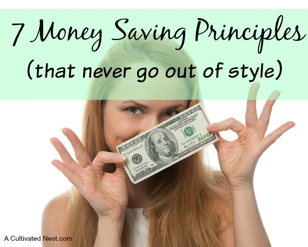 These 7 Money Saving Principles are tried and true ways of saving money and finding better financial health, no matter what your income.
