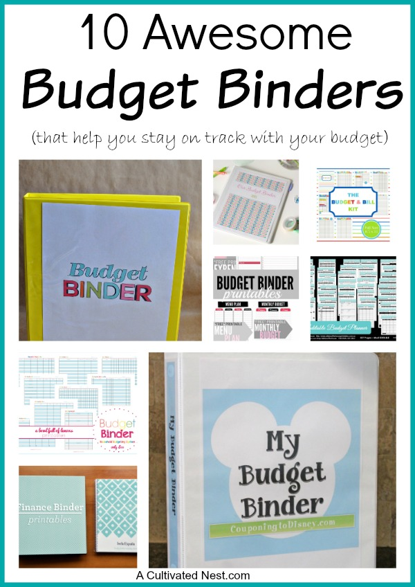 10 Awesome Budget Binders