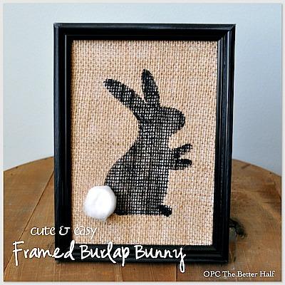 DIY Dollar Store Framed Bunny