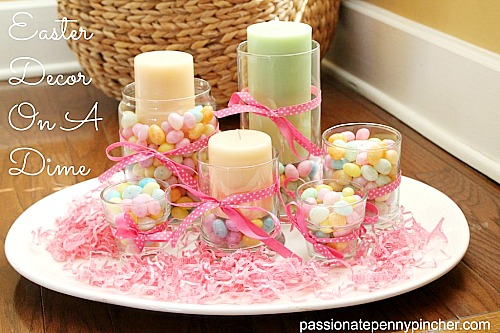 DIY Dollar Store Jellybean Centerpiece