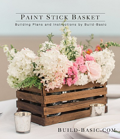 10 Easy Paint Stir Stick Projects - DIY Paint Stick Basket Project