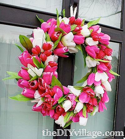 DIY Dollar Store Spring Wreath