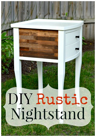 DIY paint stick nightstand makeover