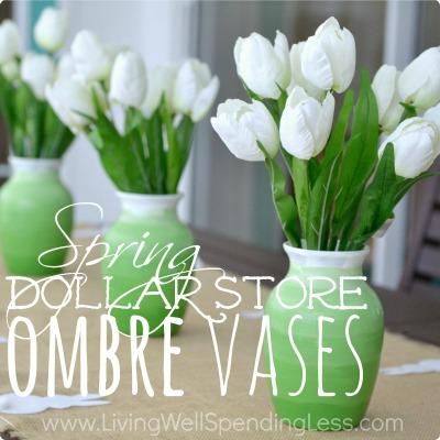 Dollar Store Ombre Vase DIY