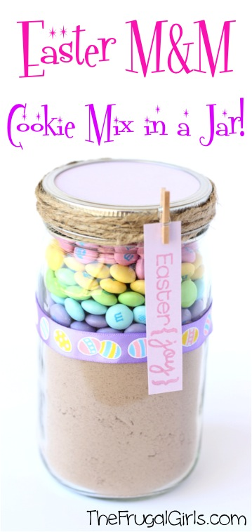 10 Cute Easter Treats in a Jar: Easter MM Cookie Mix In A Jar